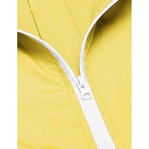 Antipioggia Giacca Trench Giallo Donna Con grigio Active Fangcheng Impermeabile Raincoats Cappuccio Leggera Outdoor tEwSFBqv