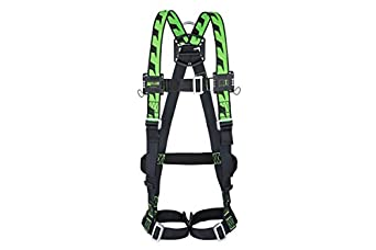 Honeywell 1032871 Miller H-Design Duraflex 2pts Harness with Automatic Buckles and 2 Webbing Loops - Size 1 Honeywell Miller