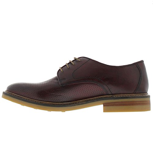 Base London Mens Standford Leather Shoes Rot