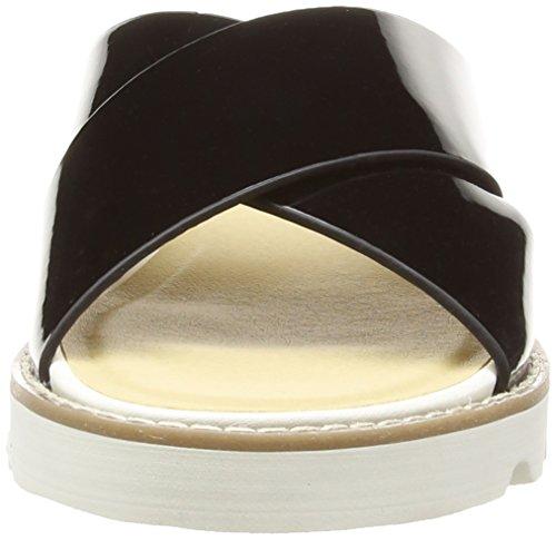 Dolcis Clitheroe - Zuecos de sintético para mujer, color negro, talla 35