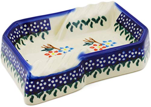 Polish Pottery 5½-inch Ashtray (Spring Flower Ring Theme) + Certificate of Authenticity