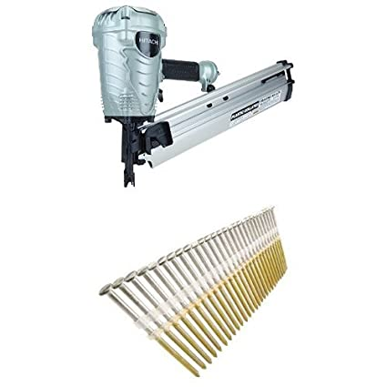 Hitachi NR90AES1 2-Inch to 3-1/2-Inch Plastic Collated Framing ...