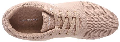 Calvin Klein Jeans Women's Tada Mesh Low-Top Sneakers, Pink Pink (Chambray)
