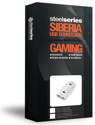 SteelSeries Siberia 51001 - Tarjeta de Sonido con Conector USB para Juegos, Color Blanco