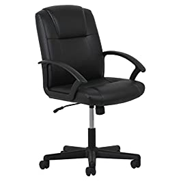 Essentials Leather Executive Office/Computer Chair with Arms – Ergonomic Swivel Chair (ESS-6000)