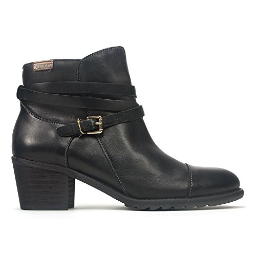 Leather Black Women's i16 913 Pikolinos Boots Andorra Ankle H0YqdyFw