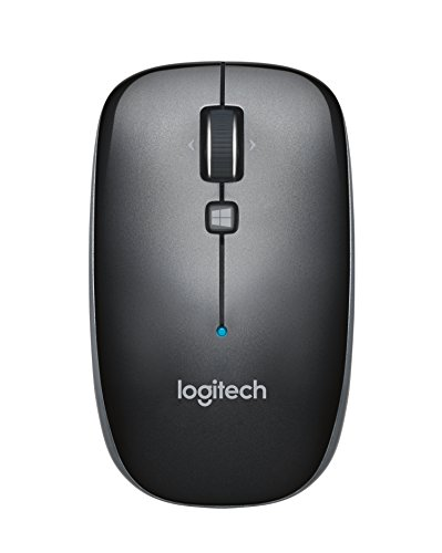 Logitech M557 Bluetooth Mouse - Wireless Mouse with 1 Year Battery Life, Side-to-Side Scrolling, and Right or Left Hand Use with Apple Mac or Microsoft Windows Computers and Laptops, Gray
