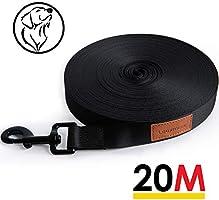 Looxmeer Schleppleine für Hunde, 5m / 10m / 15m / 20m / 25m / 30m Robuste Hundeleine Trainingsleine mit...