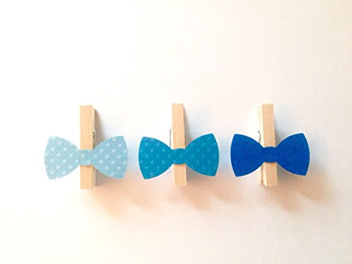Blue Bow Tie Clothespins Baby Shower Decoration Don't Say...