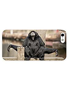 3d Full Wrap Case For Htc One M9 Cover Animal Black Monkey