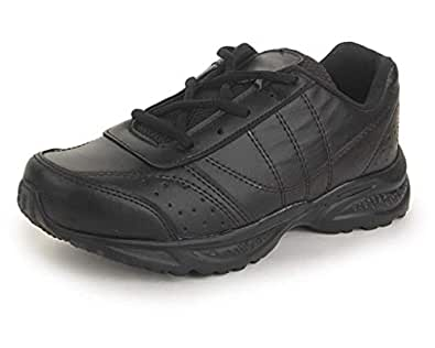 Touchwood from Trase Kids Black Superlight Eva Laces School Shoes for Boys and Girls (7-18 Years) - 2 UK