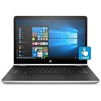 "HP Pavilion x360 14-ba023nl Notebook Convertibile, Display da 14"", Intel Pentium Gold, 2.3 GHz, SSD da 128 GB, 8 GB di RAM, HD 610, Argento Naturale [Layout Italiano]"