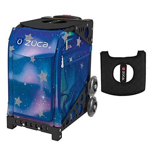 Z?CA INC Zuca Sport Bag - Aurora with Gift Black/Pink Seat Cover (Black Non-Flashing Wheels Frames)
