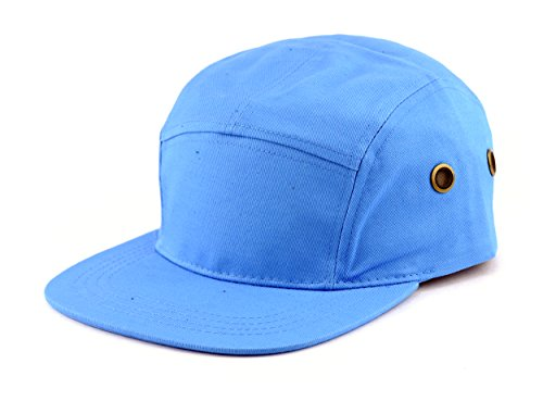 NYfashion101 Five Panel Solid Color Unisex Adjustable Army Military Cadet Cap, Sky Blue