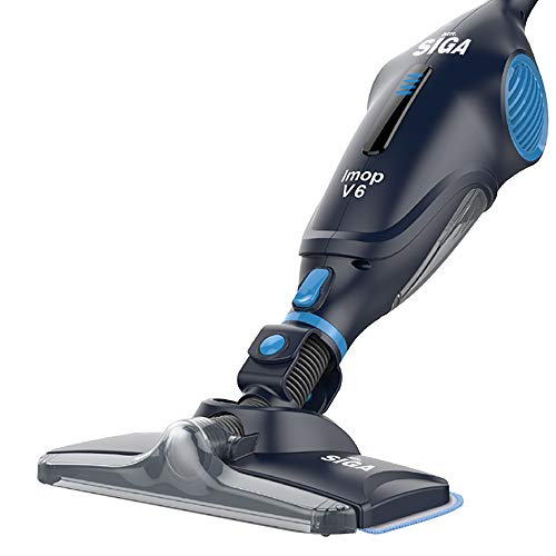MR. SIGA IMOP 3 in 1 Cordless Lightweight Vacuum Cleaner Mop, Rechargeable 2500 mAh Lithium Battery Powered, Including 2 Filters, 2 Microfiber Mop Cloths and 2 Dry Sweeping Sheets