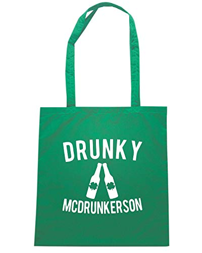 Speed Shirt Borsa Shopper Verde TIR0047 DRUNKY MCDRUNKERSON