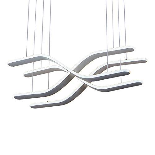 雪丽的家居 現代のミニマリストの天井灯レストランシャンデリアシャンデリアクリエイティブ錬鉄製ハングランプ研究ledフィクスチャ   B07TWFPS4V