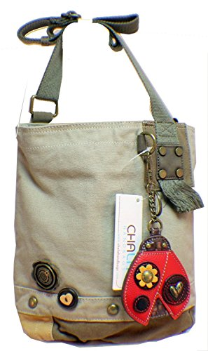 Zipper Chala Crossbody Top Handbag Canvas Patch Prints Washed Sand Animal qqXSga