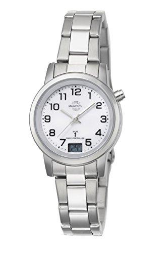 Damen-Funkuhr Master Time Funk Basic Series Damenuhr MTLA-10301-12M Damen-Funk-Armbanduhr