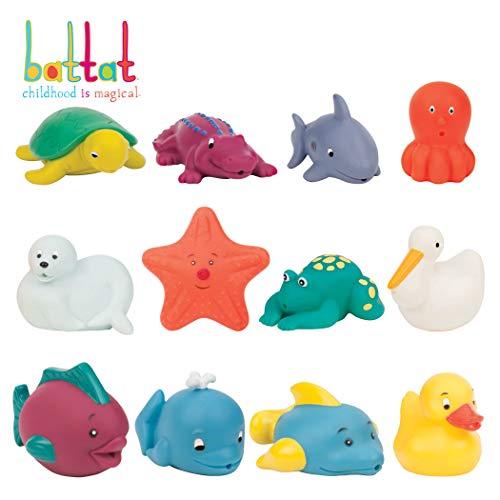 Battat - Bath Buddies Squirters - 12-Pack Little Animal Squirts Fun Bath Toys for Babies 10m+