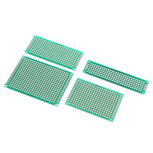 SM SunniMix 4Pcs Placa PCB 5x7 4x6 3x7 2x8 Cm Prototipo De Cobre Doble Cara Equipo De Industrias Tester