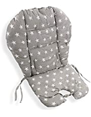 High Chair Cushion,High Chair Pad,Baby High Chair Seat Cushion Liner Mat Padding Cover Protection Pad for Baby Dining Chair(Gray Star)