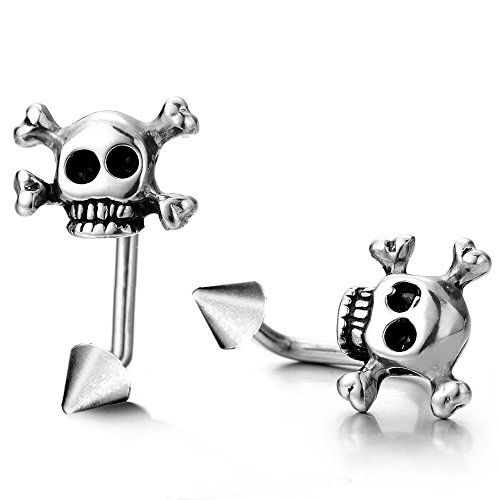 Stainless Steel Pirate Earrings Gothic