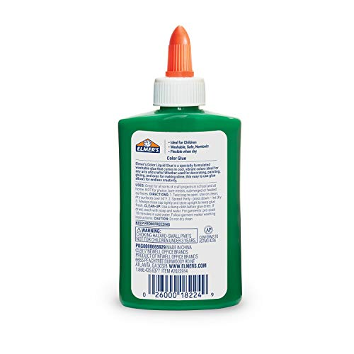 Elmer's Washable Color Glue, Green, 5 Ounces, Great for Making Slime Photo #2
