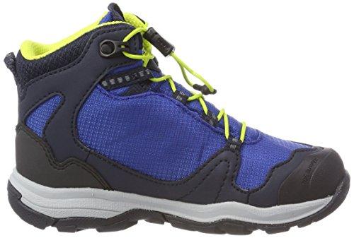 Jack Wolfskin Akka Texapore Mid B wasserdicht, Zapatos de High Rise Senderismo Para Niños Azul (Vibrant Blue)
