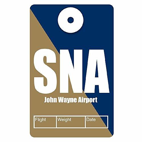 My Safe Tag Identity Safe Luggage Tag, John Wayne Airport, SNA, QR Code on back, 3 - Wayne John Airport