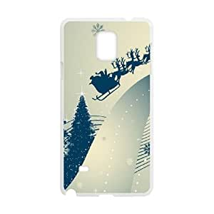 Santa Claus and Raindeer Samsung Galaxy Note 4 Cell Phone Case White DIY Gift xxy002_5075915
