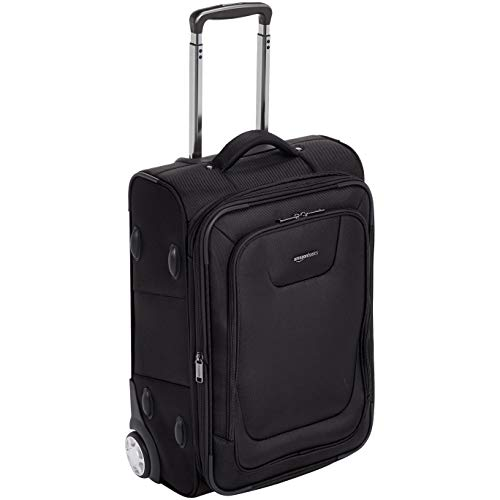 - AmazonBasics Expandable Softside Carry-On Luggage Suitcase With TSA Lock And Wheels - 22 Inch, Black