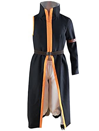 LYLAS Fairy Tail Natsu Dragneel Outfit with Scarf Cosplay Costume (Male-XS)