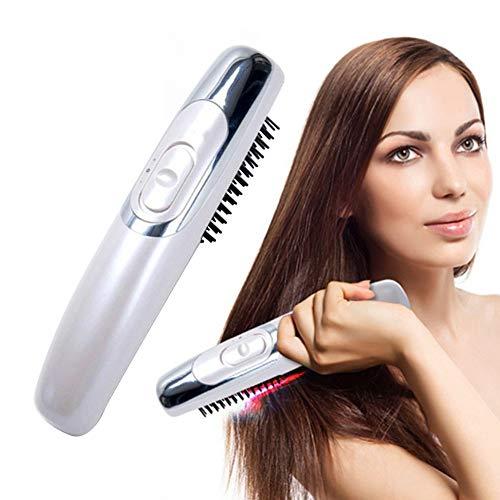 Hair loss treatment gLoaSublim Electric Antistatic Anti-Hair Loss Scalp Massage Comb Brush Styling Tool - White