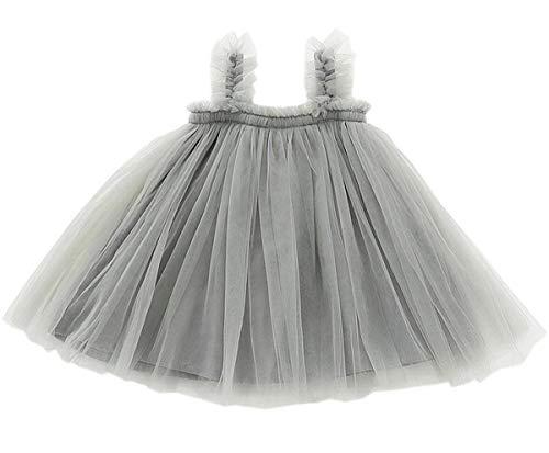 - GSVIBK Baby Girls Tutu Dress Toddler Infant Tulle Skirts Sleeveless Sundress Mini Dress Bubble 5 Layers 3 Years Gray 708