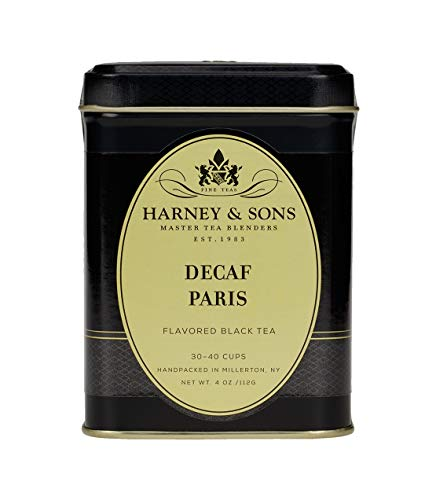Harney & Sons Decaf PARIS Tea 4 ounce (1/4 lb) Tin