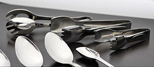 "6\"" Salad Tong, Stainless Steel, Dishwasher Safe Serving Utensils by GET, BSRIM-09"