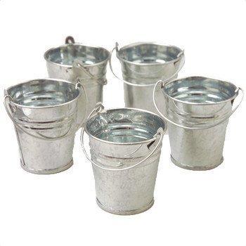 4x Mini Metal Cubos 6.3cm (6.5cm) ideal para dulces MESA de dulces placeholders Decoración De Boda DETALLES condimentos y salsas: Amazon.es: Jardín