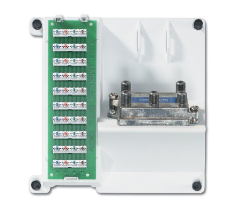Leviton 47603-1G4 Compact Series Telephone and 4-Way Video Panel, (Leviton Video Amplifier)
