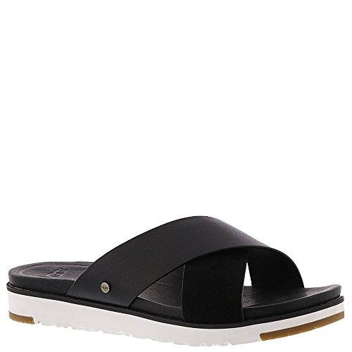 UGG Women's Kari Flat Sandal, Black, 8 M US by UGG