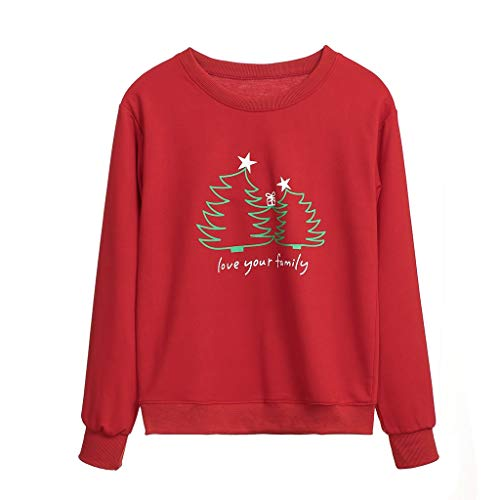 Men's Sweatshirt Round Neck Long Sleeve 'Love You Family' Christmas Costume By ()