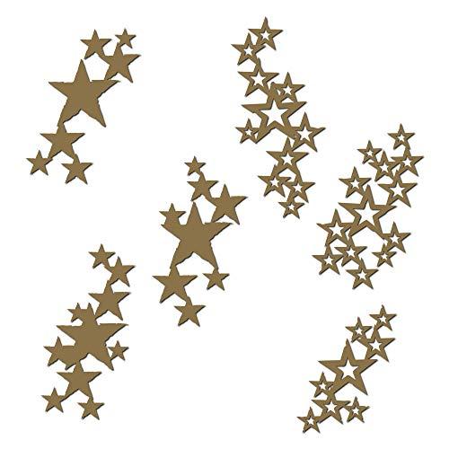 Star Grunge Laser Cut Chipboard - 6 Piece Set