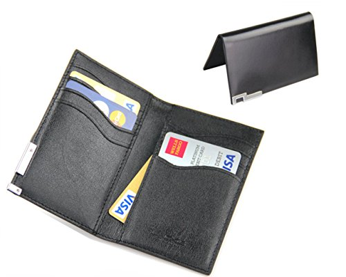 Lacos super slim genuine leather credit card holder business card lacos super slim genuine leather credit card holder business card holder pocket bifold wallet for men buy online in uae office product products in reheart Choice Image