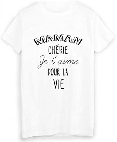 Youdesign Fr T Shirt Citation Maman Cherie Je T Aime Fete Des
