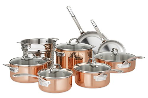 Corp Trading Oven (Viking Culinary 40571-9993C Copper Stainless Steel Cookware Set, 13 Piece)