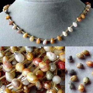 Crazy LACE Agate BRIOLETTE Bead Strand! 104606 Spacer Beads and Roll Crystal String for Bracelets Jewelry Making