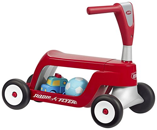 Radio Flyer Scoot 2 Scooter Ride On (Storage Flyer Plastic Radio)