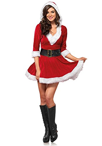 Cuteshower Christmas Women Costume Sexy Outfit Dress Santa Claus Cosplay Clothing Large -