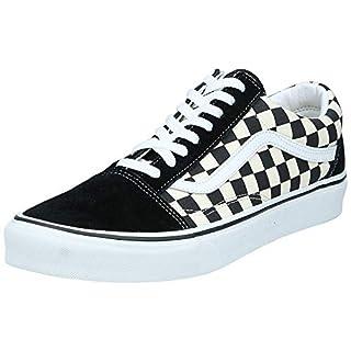 Vans Unisex Old Skool Classic Skate Shoes, (Primary Checkered) Black/White, 6.5 Women/5 Men