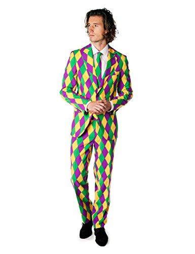 OppoSuits Mens Harleking Party Suit - Crazy Suit, 40